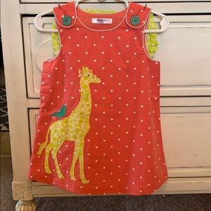 NWOT Mini Boden Giraffe Dress with Bloomers